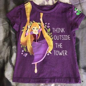 Disney store Rapunzel short sleeve shirt